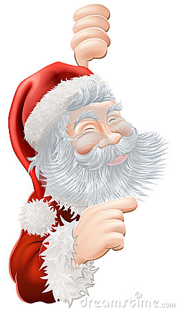 Christmas Santa Claus Pointing