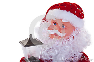 Christmas Santa Clause with Lantern