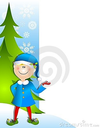 Christmas Santa Elf Border