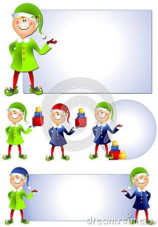 Christmas Santa Elf Clip Art 2