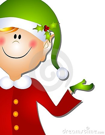 Christmas Santa Elf Clip Art 3