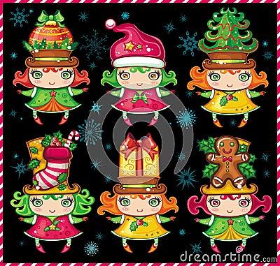 Christmas Santa Helpers 1