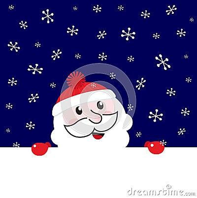Christmas Santa retro blank banner