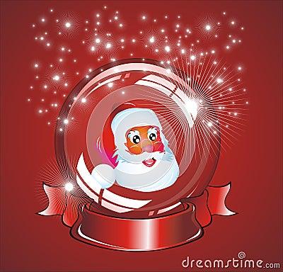 Christmas Santa snow globe
