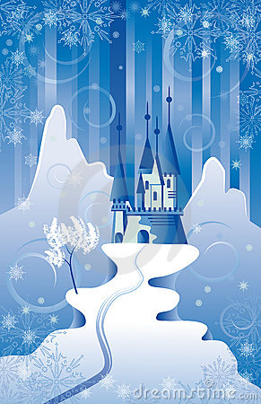 Free Christmas Scene With Castle Royalty Free Stock Images - 11785059