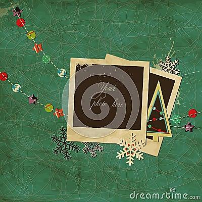 Christmas scrap template