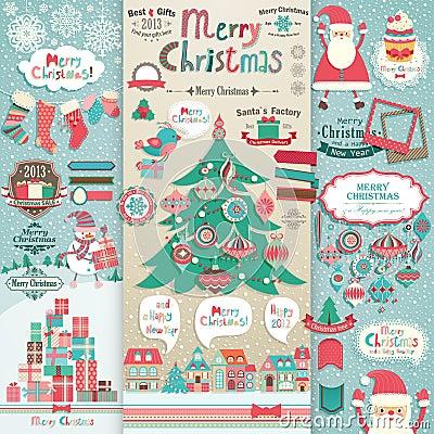 Free Christmas Scrapbook Elements. Stock Photos - 27307183