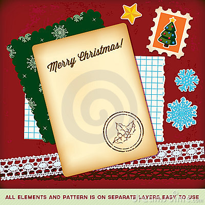Christmas Scrapbook Elements Template. Royalty Free Stock Photos - Image: 21464988