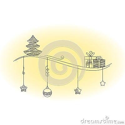 Christmas scrawl illustration
