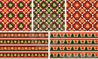 Christmas seamless backgrounds set