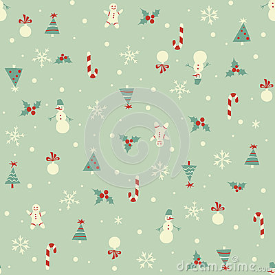Free Christmas Seamless Pattern Stock Images - 35575534