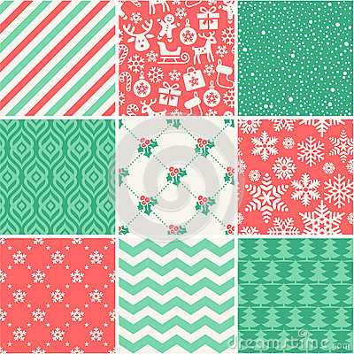 Free Christmas Seamless Pattern Collection Stock Photography - 42963702