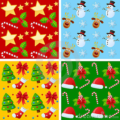 Free Christmas Seamless Patterns Royalty Free Stock Images - 21902319