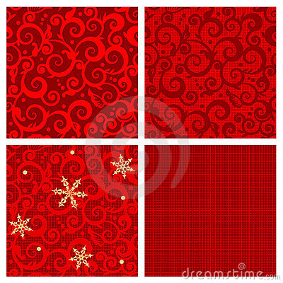 Free Christmas Seamless Patterns Royalty Free Stock Images - 7114469