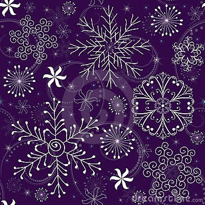 Free Christmas Seamless Violet Pattern Royalty Free Stock Images - 15843939