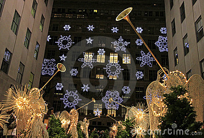Christmas season in New York Editorial Stock Image