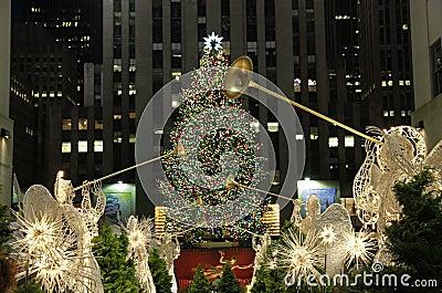Christmas season in New York Editorial Stock Image