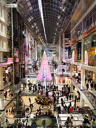 Christmas Season at Toronto Eaton Centre Editorial Photography