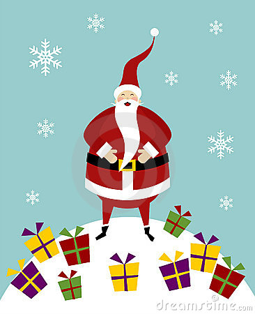Christmas serie: Santa Claus on a snow mountain
