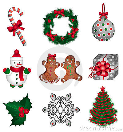 Free Christmas Set Royalty Free Stock Images - 11692139