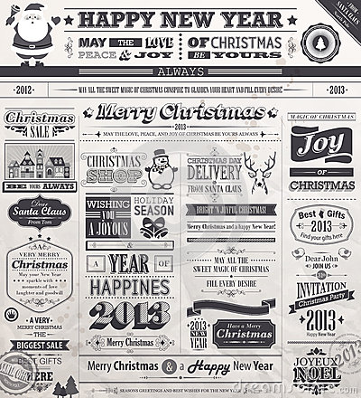 Free Christmas Set Royalty Free Stock Images - 27930569