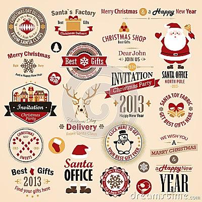 Free Christmas Set Royalty Free Stock Image - 27930756