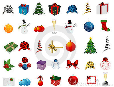 Christmas Set of icons