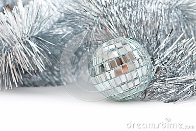 Christmas shiny garland and ball