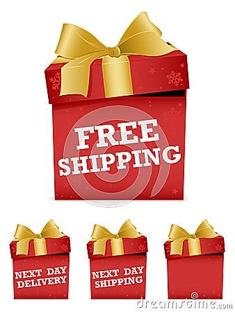 Free Christmas Shipping Icons Stock Photos - 22054853