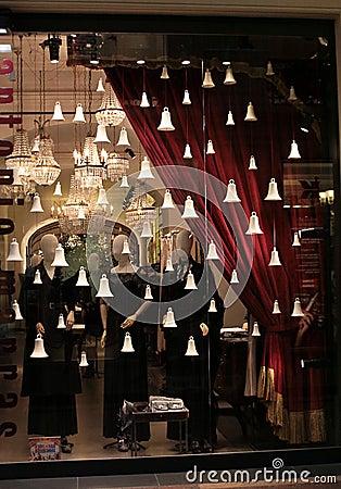 Christmas shop decoration