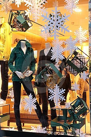Christmas shop window Editorial Stock Photo