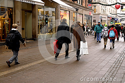 CHRISTMAS SHOPPERS Editorial Photography