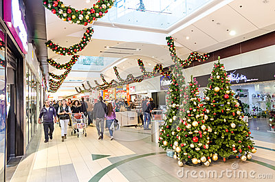 Christmas Shopping Editorial Stock Photo