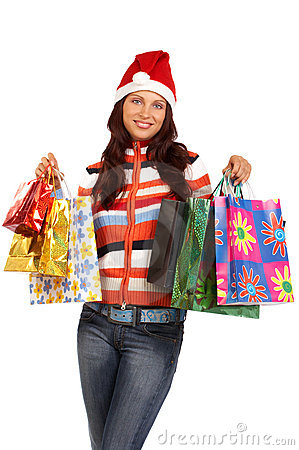 Free Christmas Shopping Royalty Free Stock Photography - 3461717