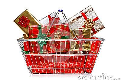 Christmas shopping basket
