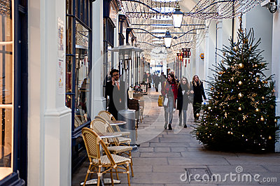 Christmas shopping Editorial Stock Image