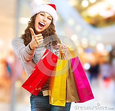 Free Christmas Shopping. Sales Stock Photos - 27405153