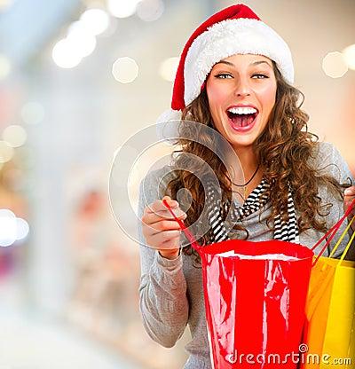 Free Christmas Shopping. Sales Stock Photos - 27405243