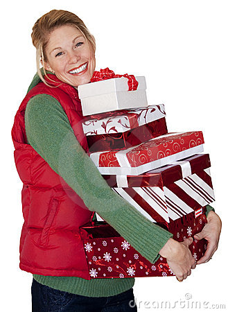 Free Christmas Shopping Woman Stock Images - 11977074