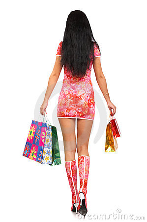Free Christmas Shopping Woman Stock Images - 1283474