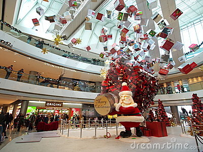 Christmas show in IFC Mall Editorial Photography