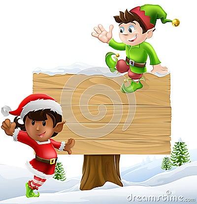 Christmas sign illustration
