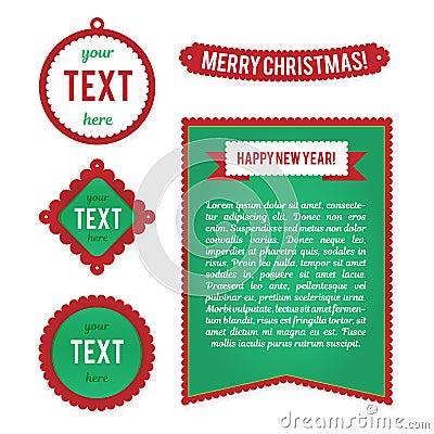Christmas Cards Templates Stock Photo - Image: 6783800