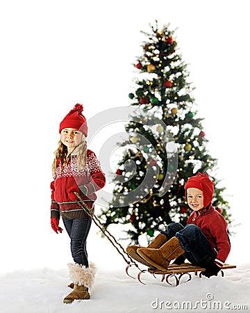 Christmas Sled Kids