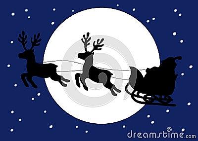 Christmas. The sleigh