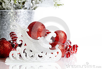 Christmas Sleigh Red Ornaments