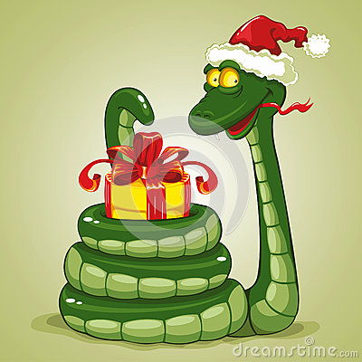 Free Christmas Snake Royalty Free Stock Image - 25496746
