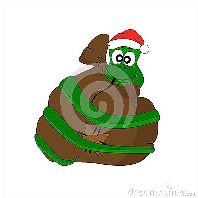 Christmas snake with gift bag