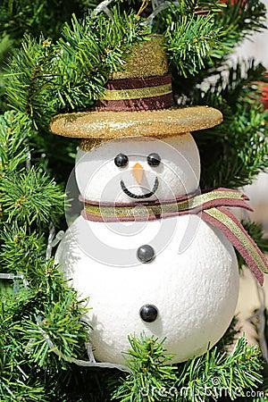 Christmas snow baby on tree