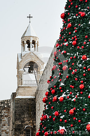 Christmas snow in Bethlehem